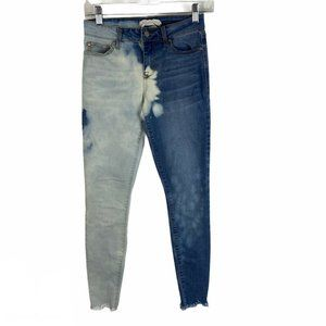 Altar'd State Bleached Two Toned Skinny Jeans 24